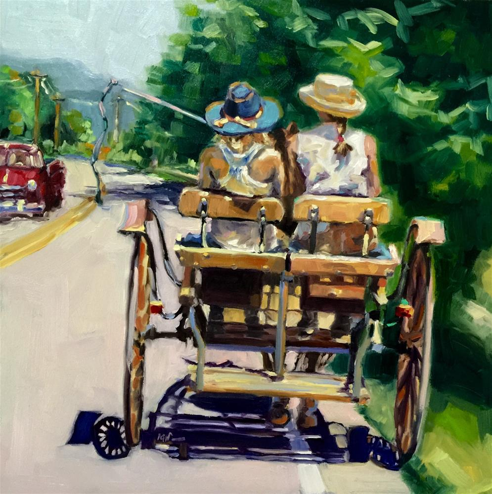 """""""Back to the Future"""" original fine art by Mb Warner"""