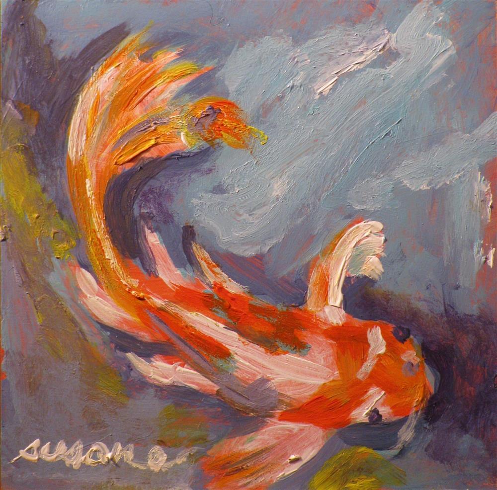 """Koi"" original fine art by Susan Elizabeth Jones"