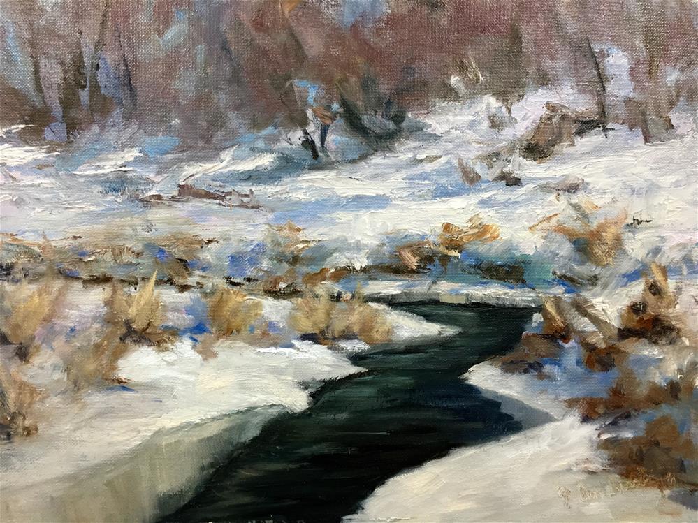 """Winter Light"" original fine art by Judith Anderson"