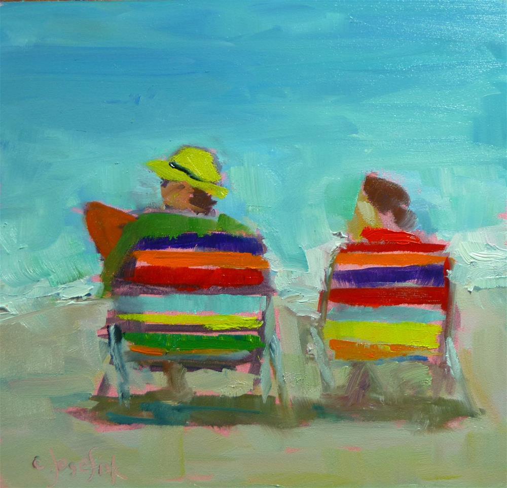 """Retirement at Water's edge"" original fine art by Carol Josefiak"