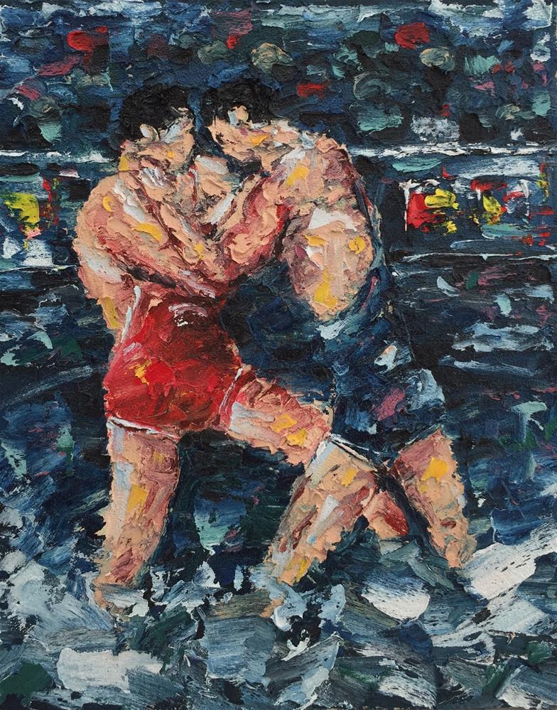 """""""For The Gold"""" original fine art by Ken Fraser"""