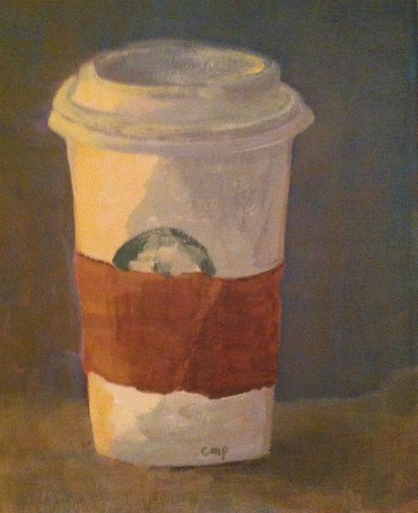 """Coffee Takeout 8x10"" original fine art by Christine Parker"