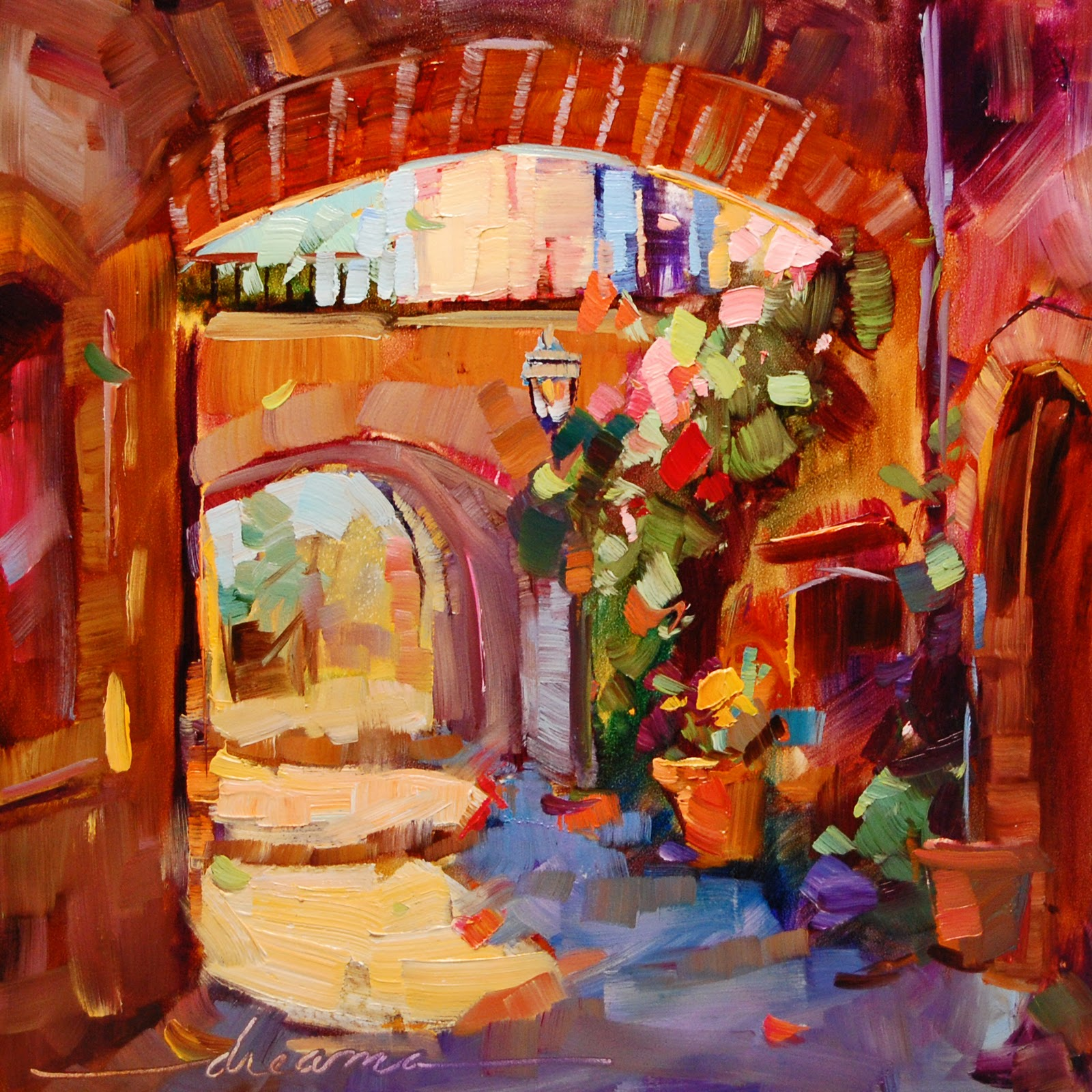 """Unbidden Joy"" original fine art by Dreama Tolle Perry"