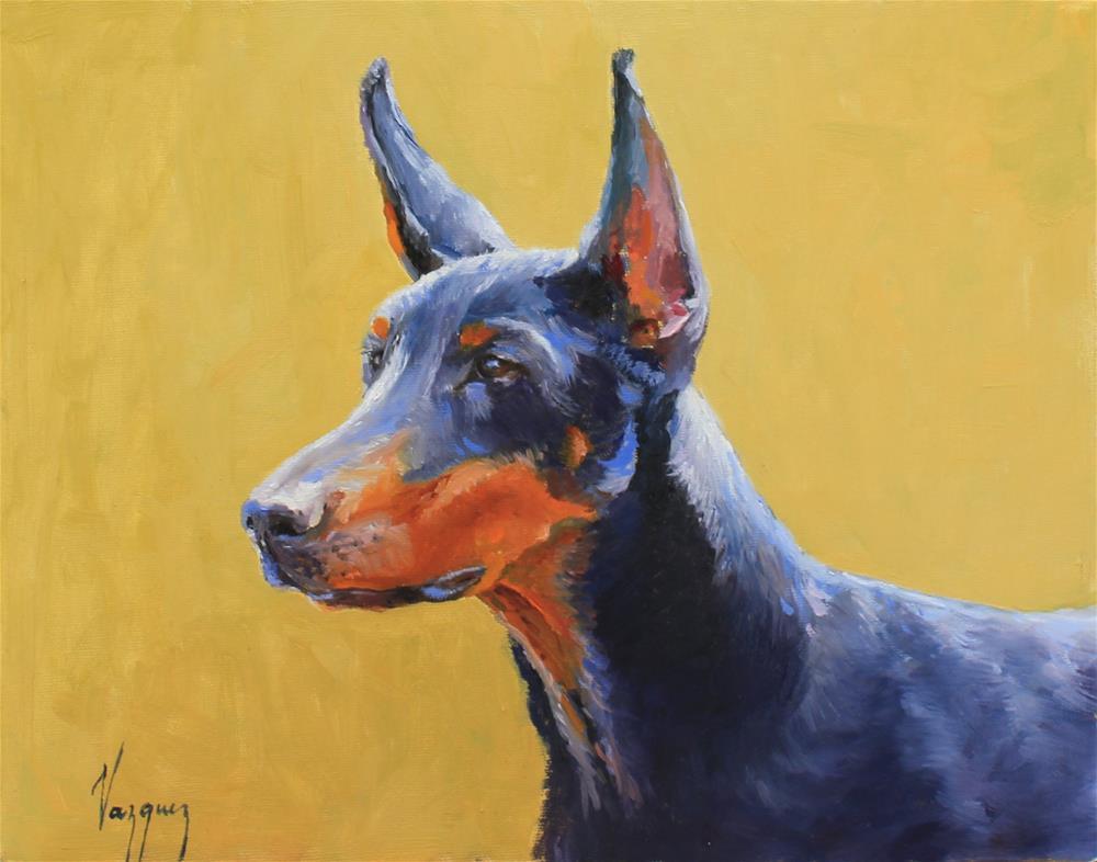 """Doberman"" original fine art by Marco Vazquez"