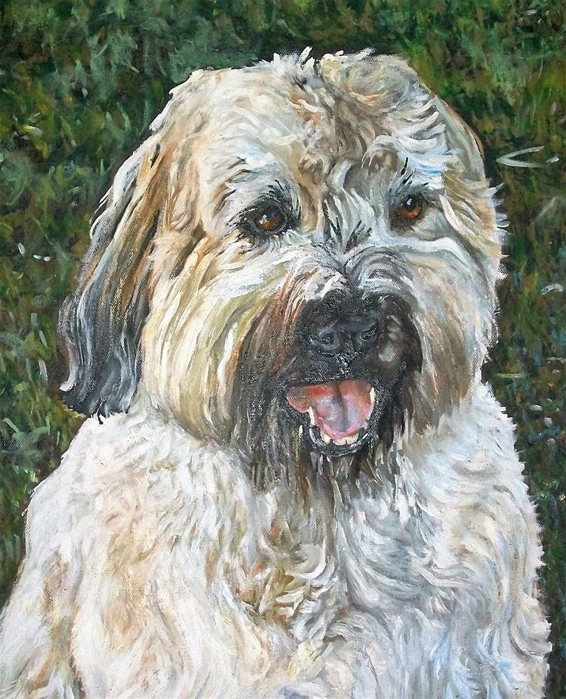 """""""A fluffy moush dog"""" original fine art by tara stephanos"""