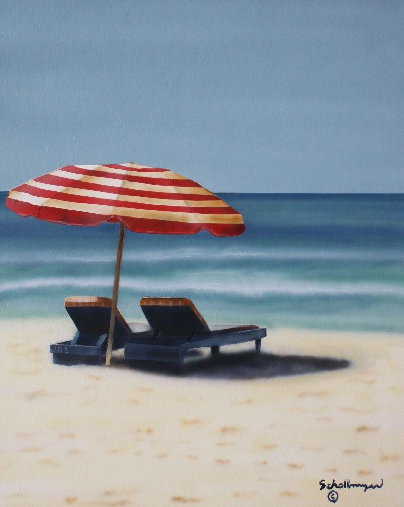 """""""Beaches in Mind"""" original fine art by Fred Schollmeyer"""