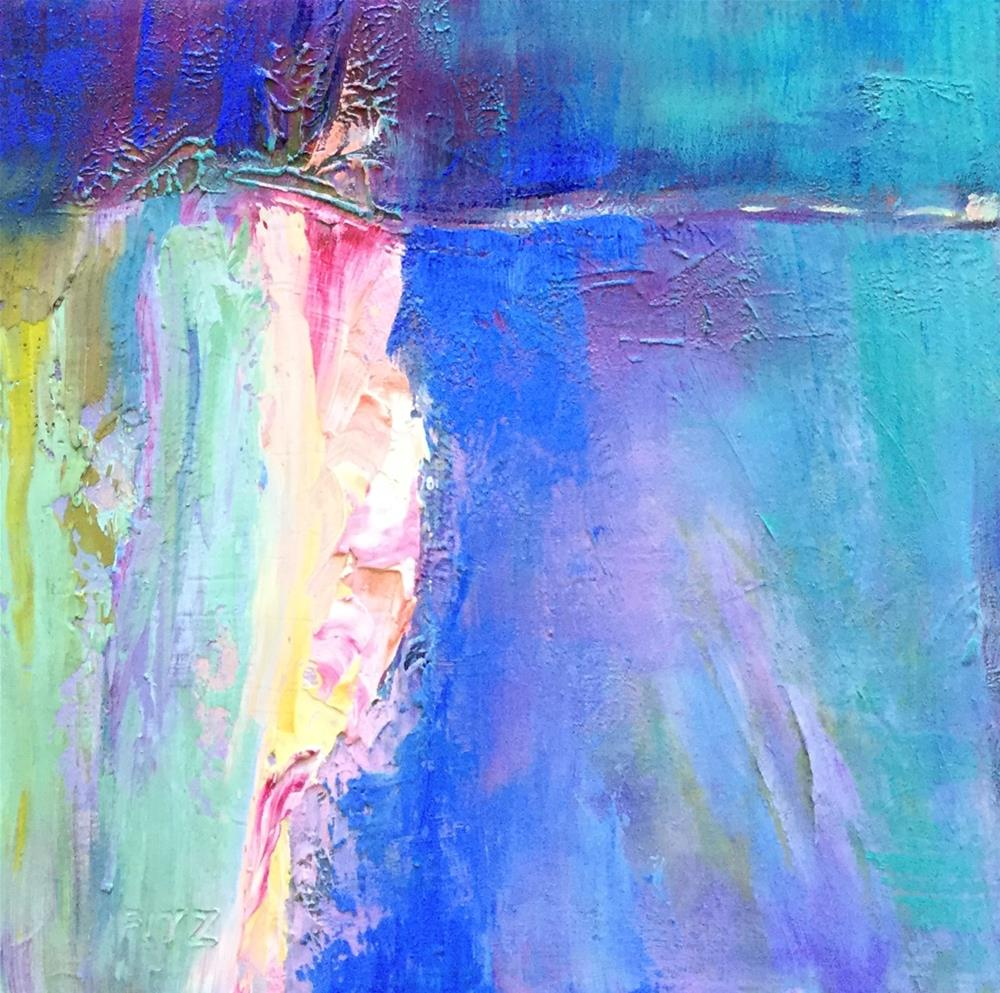 """Abstract 96"" original fine art by Charlotte Fitzgerald"