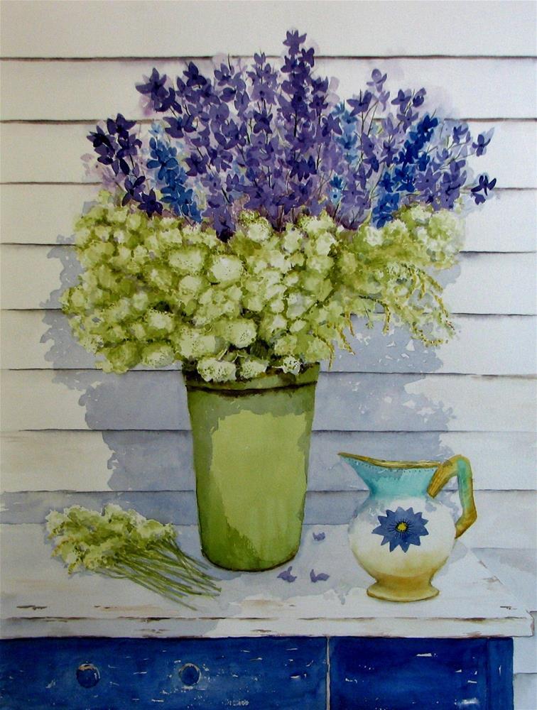"""Delphenium Floral"" original fine art by Crisynda Buss"