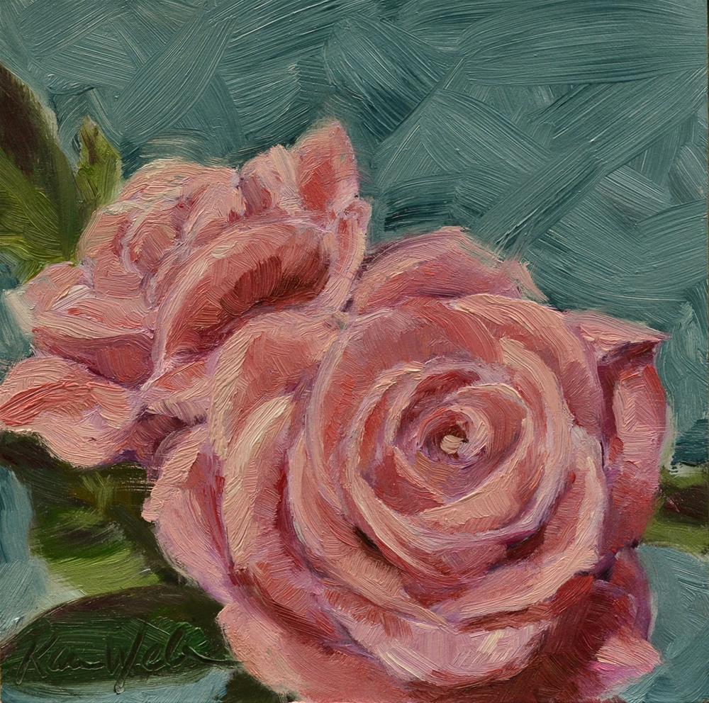 """Celebration Roses"" original fine art by Karen Weber"