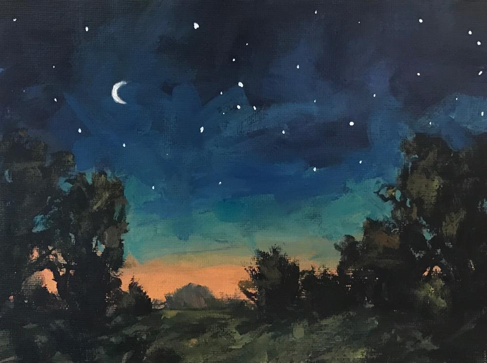 """Sleepy Night"" original fine art by Shannon Bauer"