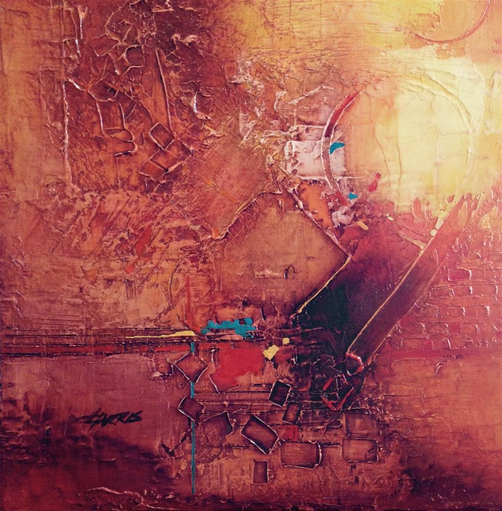 """Primary Squared"" original fine art by Helen Harris"