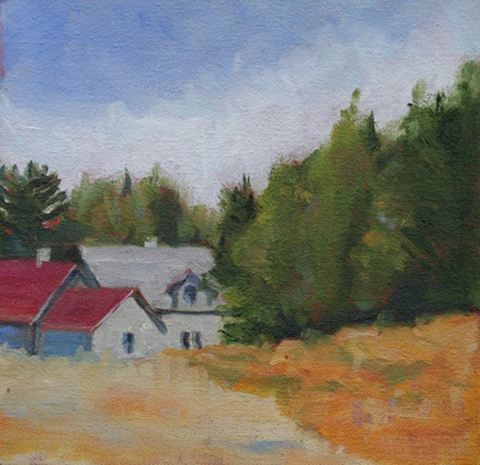 """""""At the Cottage"""" original fine art by Maria McNitt"""
