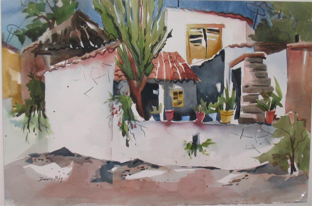 """Greek Ranch"" original fine art by Jinnie May"