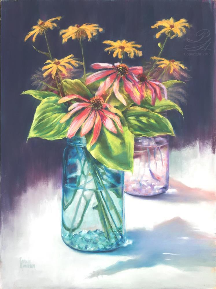 """""""Summer's End Bouquet"""" original fine art by Pamela Hamilton"""