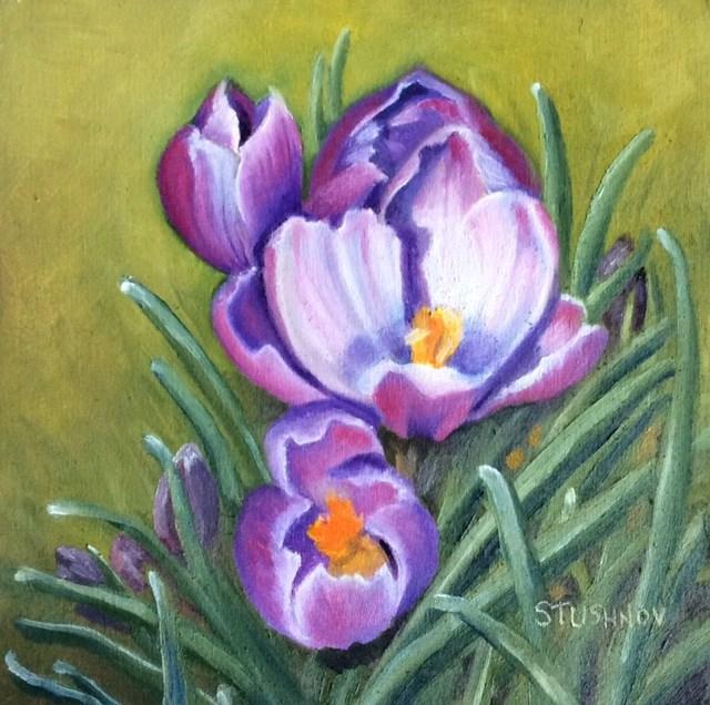 """""""Breathe of Spring"""" original fine art by Sharlene Stushnov-Lee"""