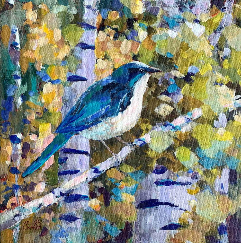 """Bluebird"" original fine art by Melissa Gannon"
