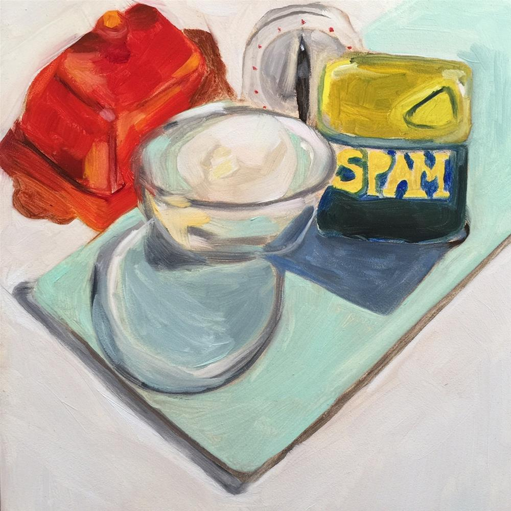 """59 Spam and Eggs"" original fine art by Jenny Doh"