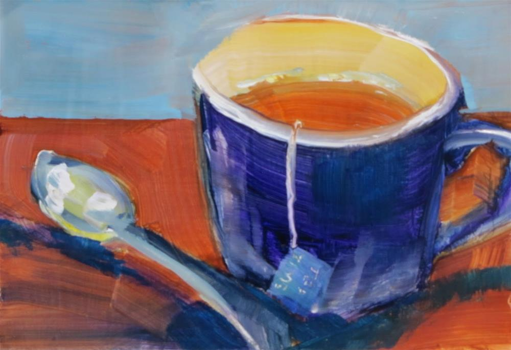 """Tea Time"" original fine art by Christine Holzschuh"