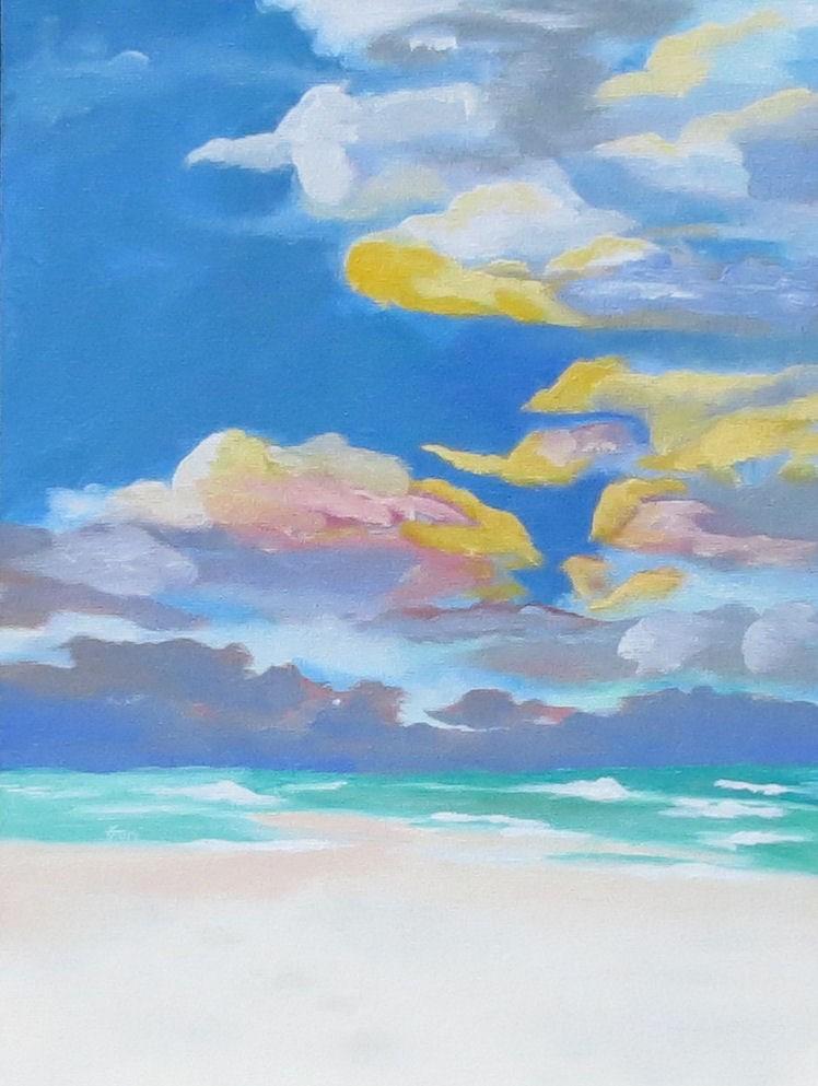 """Where Sea Meets Sky"" original fine art by Kari Melen"