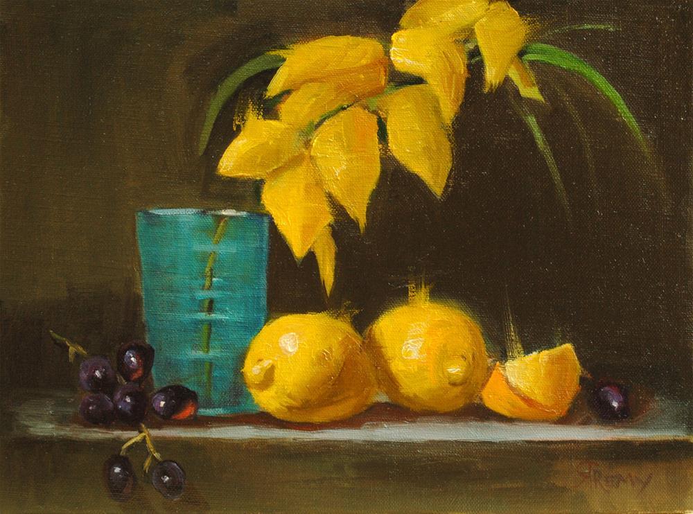 """Yellow Leaves"" original fine art by Roberta Remy"