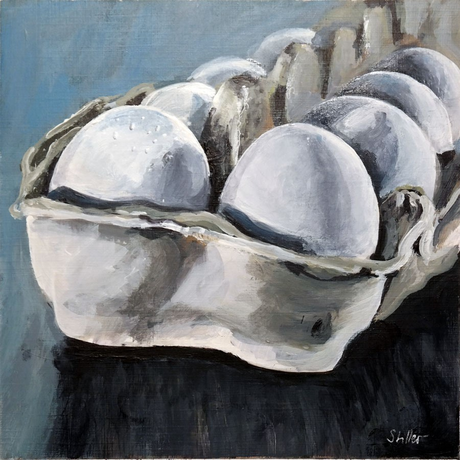 """2736 Egg Box"" original fine art by Dietmar Stiller"