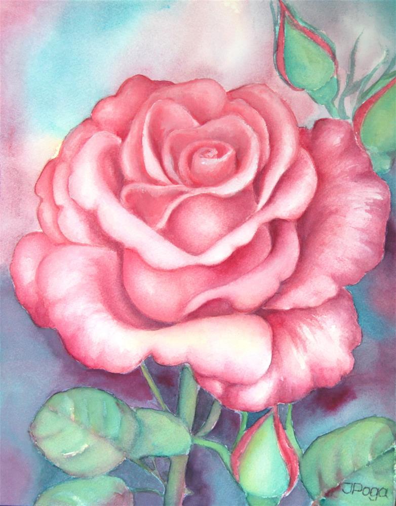 """Saturday rose"" original fine art by Inese Poga"