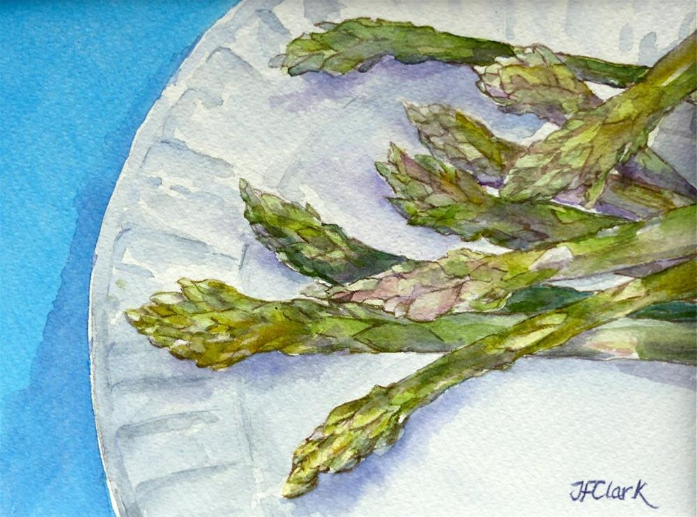 """Asparagus, study"" original fine art by Judith Freeman Clark"