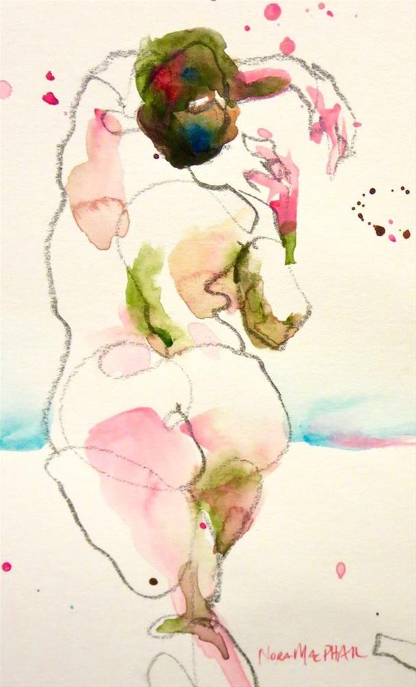 """""""criss cross"""" original fine art by Nora MacPhail"""