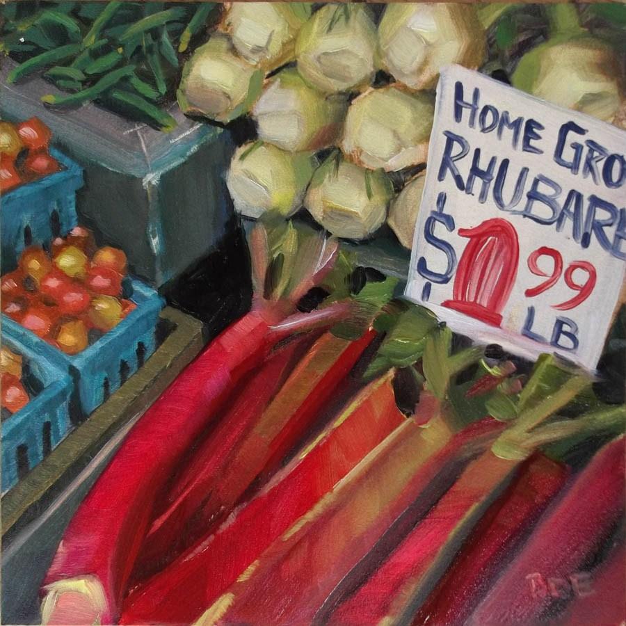 """Pike Place Market Rhubarb"" original fine art by Karen Boe"