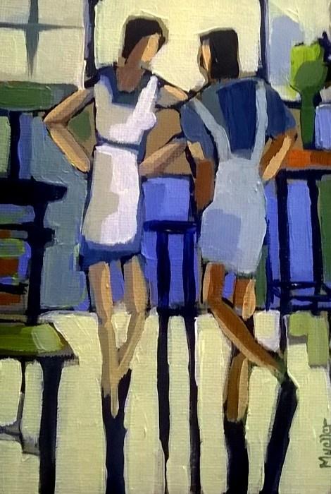 """""""I Hear She's Gluten Free"""" original fine art by Laurie Mueller"""