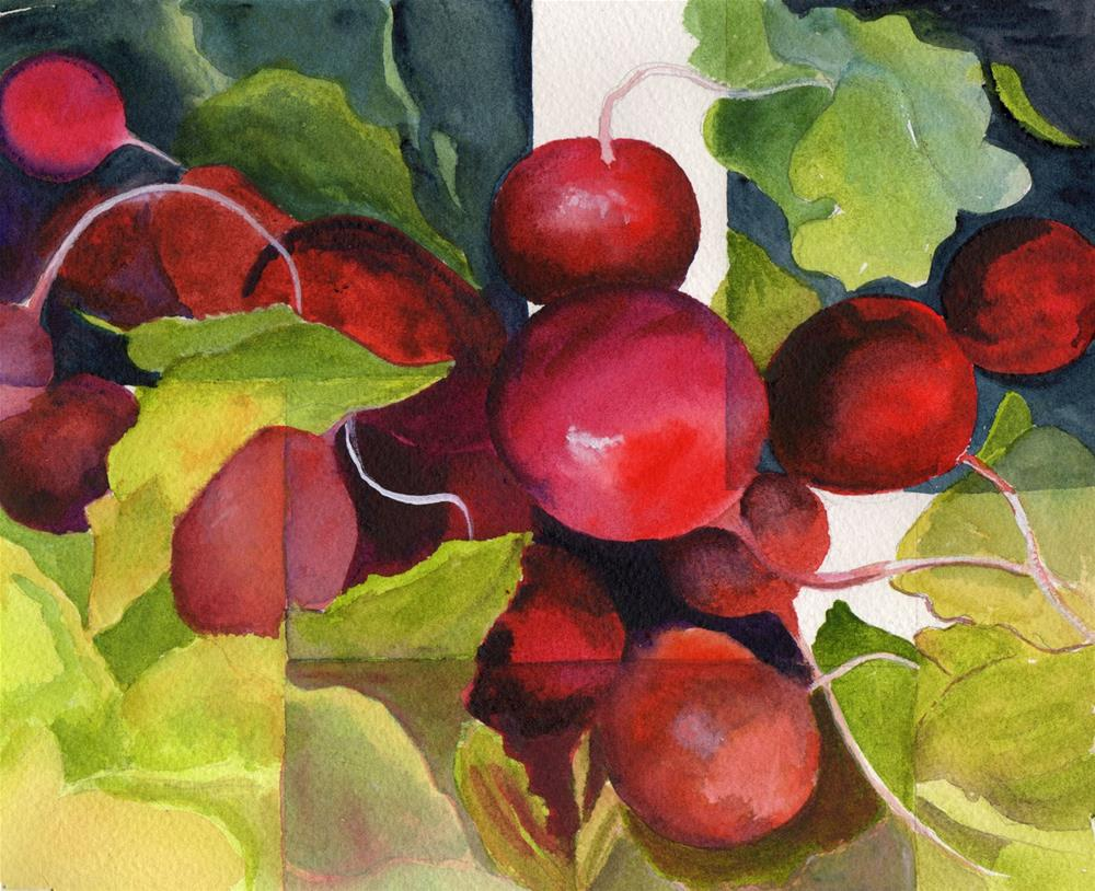 """""""Fractured Radishes"""" original fine art by Bunny Griffeth"""