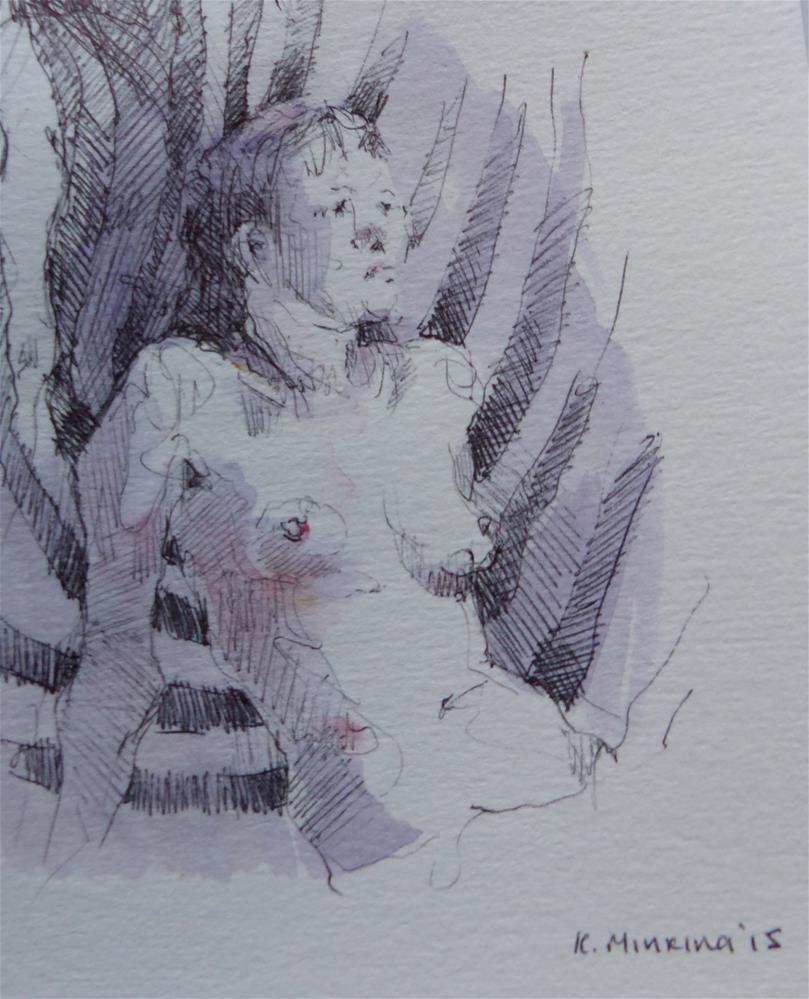 """sketchbook#12"" original fine art by Katya Minkina"