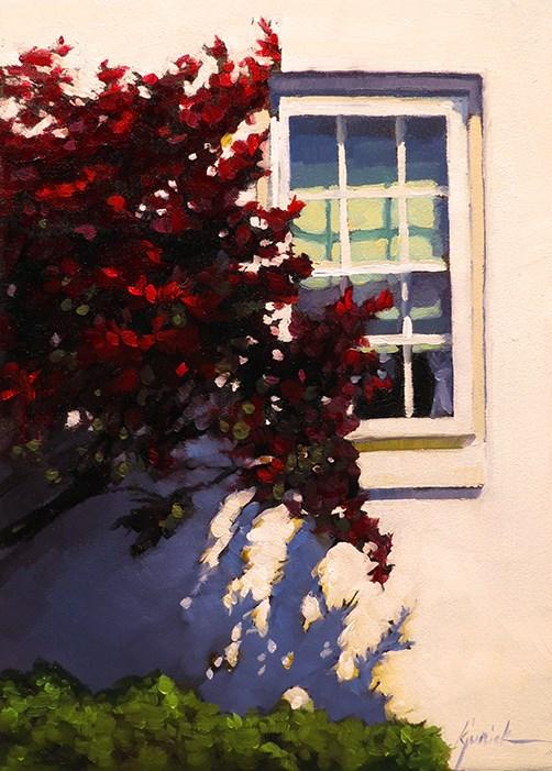 """Lincoln Highway/Red Maple, Pennsylvania"" original fine art by Karin Jurick"