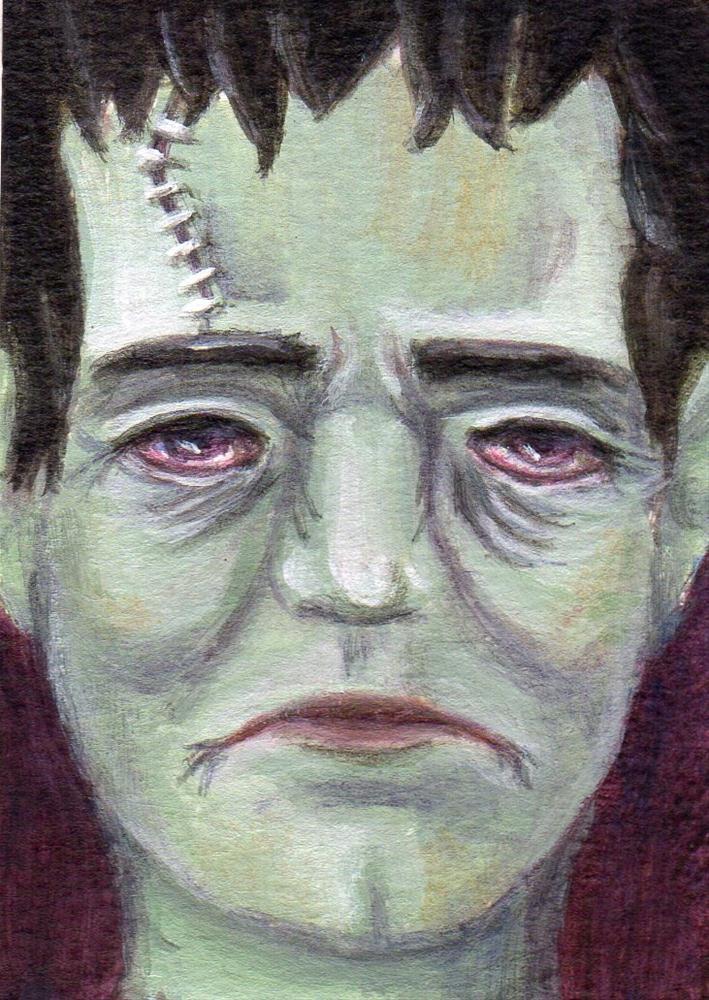 """Monster Mash"" original fine art by Debbie Shirley"