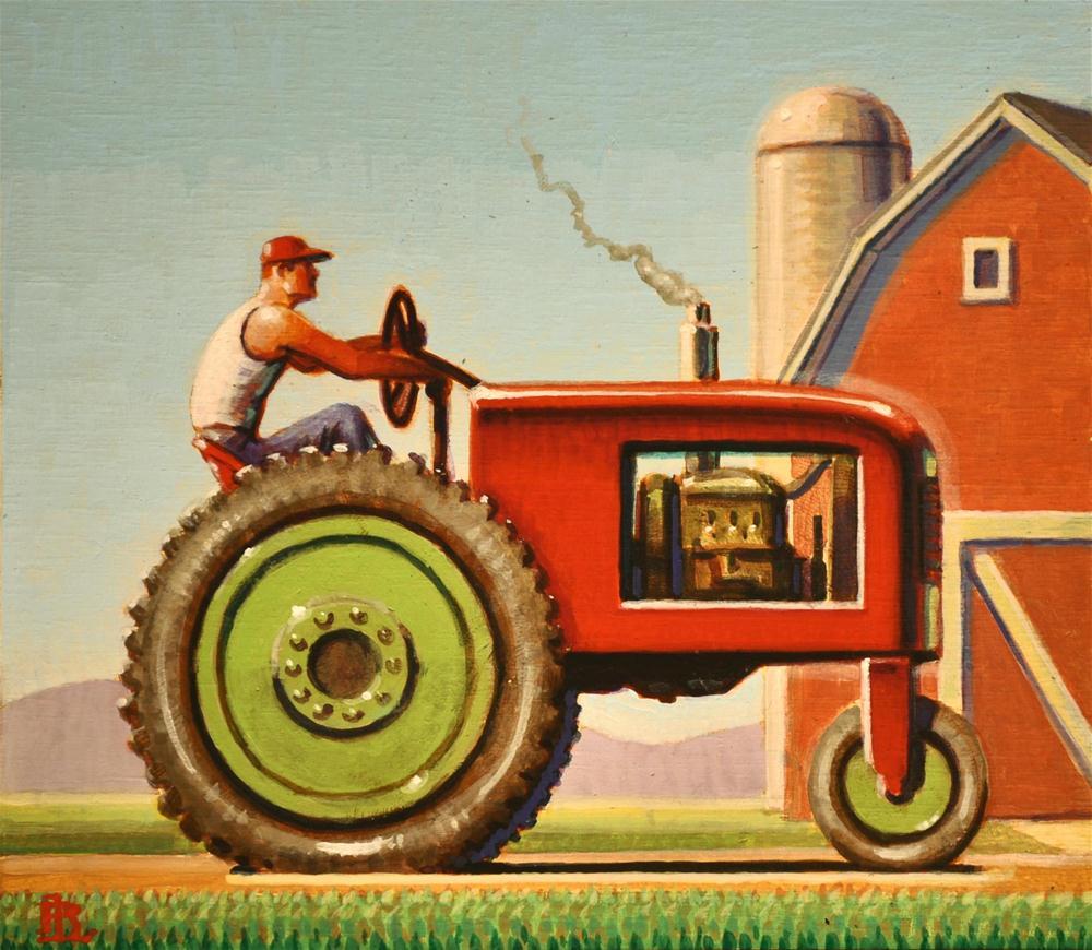 """Farm"" original fine art by Robert LaDuke"