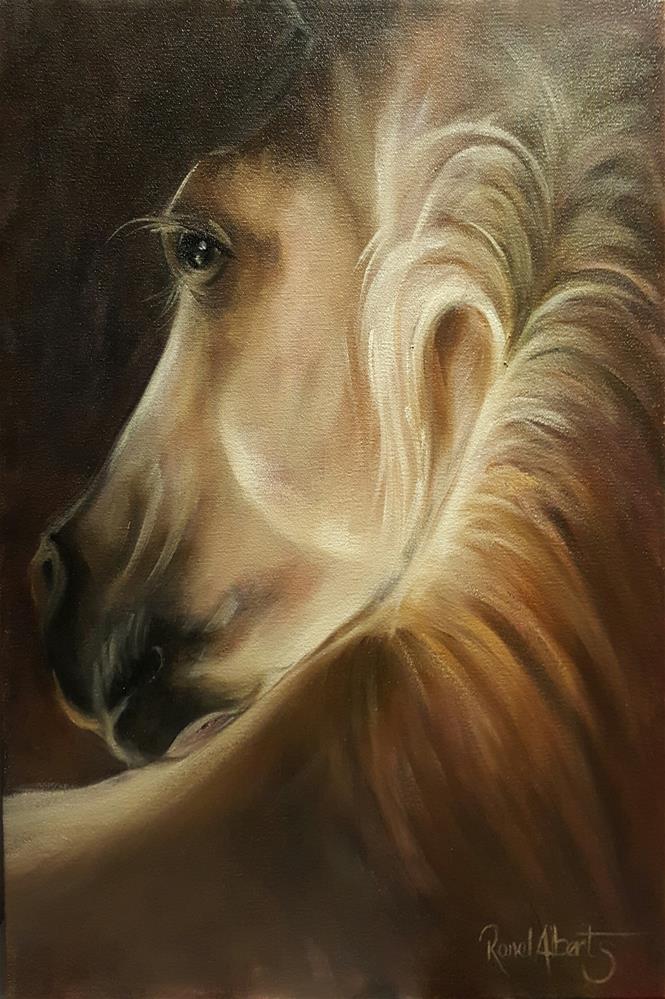 """TENDER GLANCE"" original fine art by Ronel Alberts"