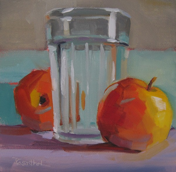 """""""Apples and Glass"""" original fine art by Robin Rosenthal"""