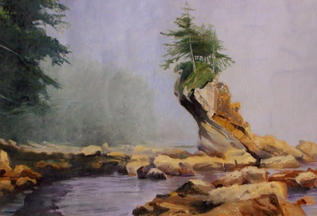 """The Washington Coast near Shipwreck Point...oil marine landscape painting"" original fine art by Robin Weiss"