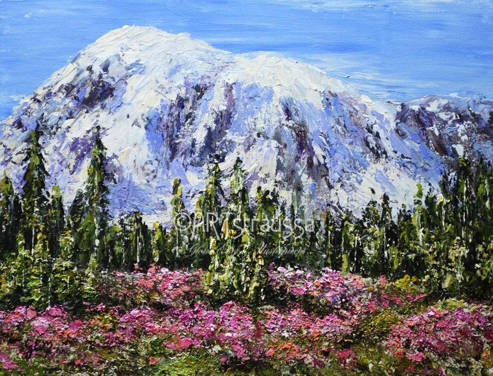 """Flowers At Mount Rainier"" original fine art by Gloria Ester"