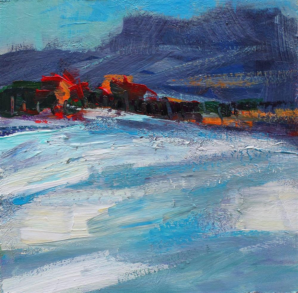 """""""Snow in the afternoom"""" original fine art by salvatore greco"""