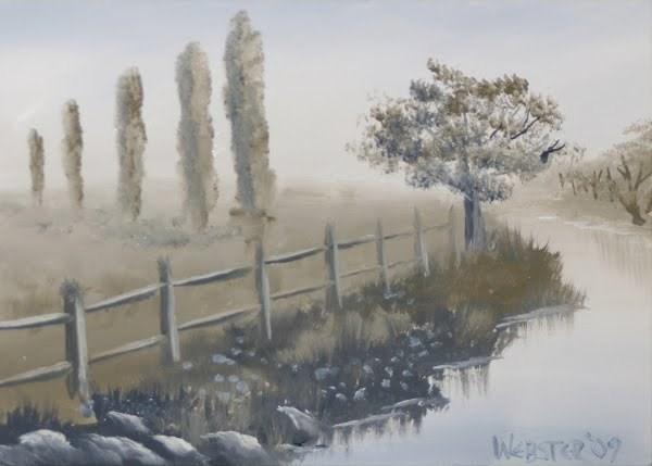 """""""Mark Webster - Grayscape #8 - Landscape Oil Painting"""" original fine art by Mark Webster"""