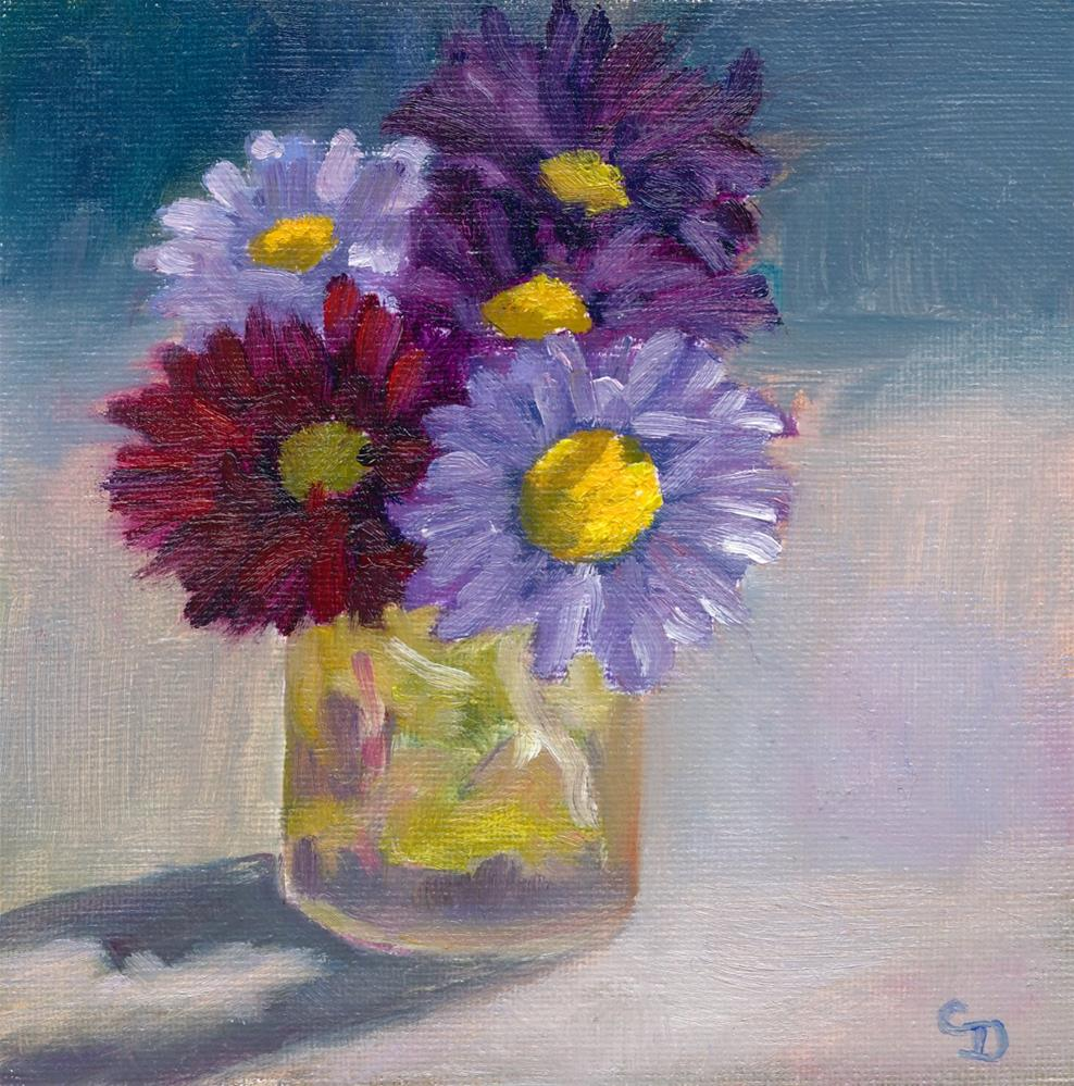 """Mixed Asters"" original fine art by Christine Derrick"