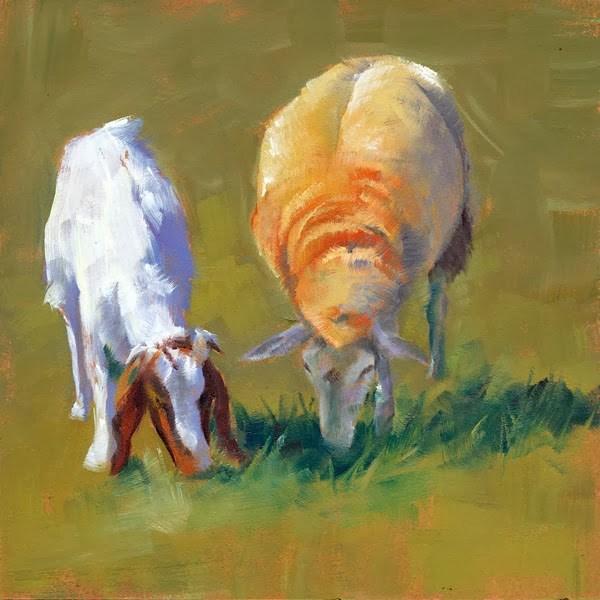 """""""Besties"""" original fine art by Brenda Ferguson"""