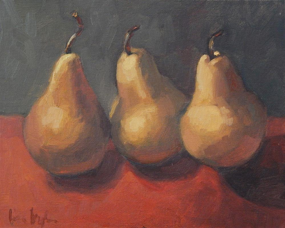 """Three on Red"" original fine art by Lisa Kyle"
