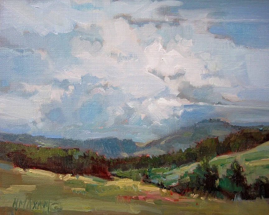"""Quiet Afternoon"" original fine art by Mary Maxam"
