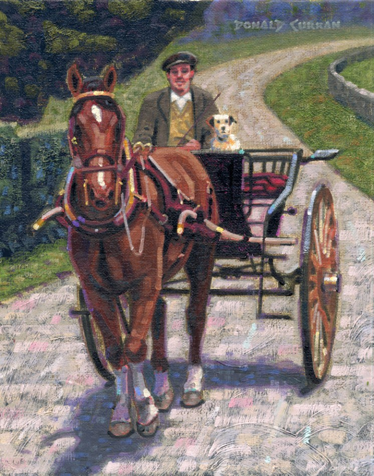 """""""Out for a Ride"""" original fine art by Donald Curran"""