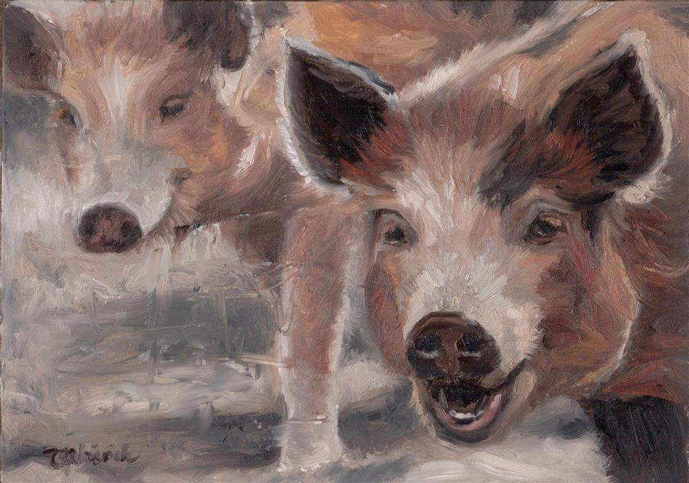 """This Little Piggy"" original fine art by Tahirih Goffic"