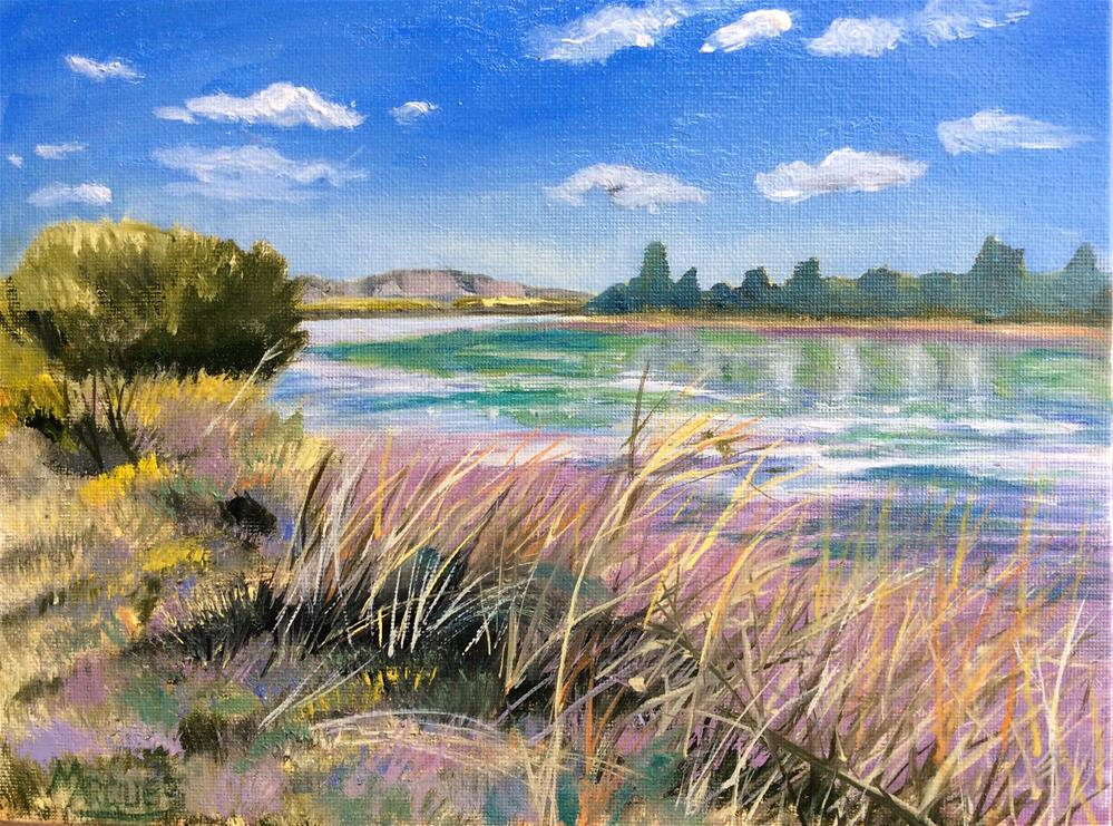 """""""Banks of the Rio"""" original fine art by Kathy Marques"""