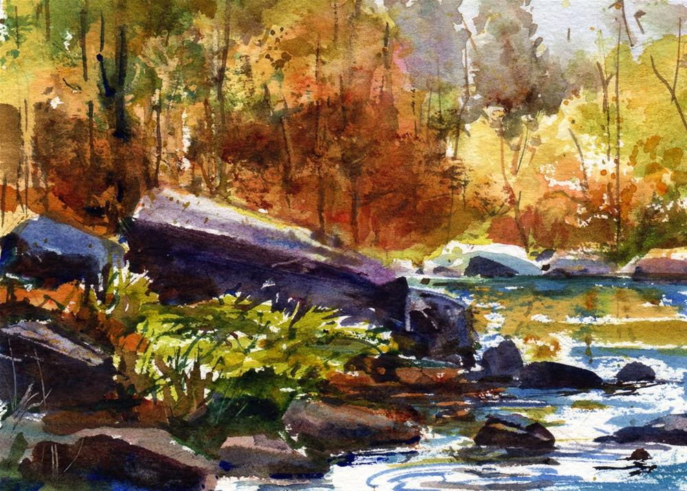 """On A Golden Autumn Day"" original fine art by Linda Henry"