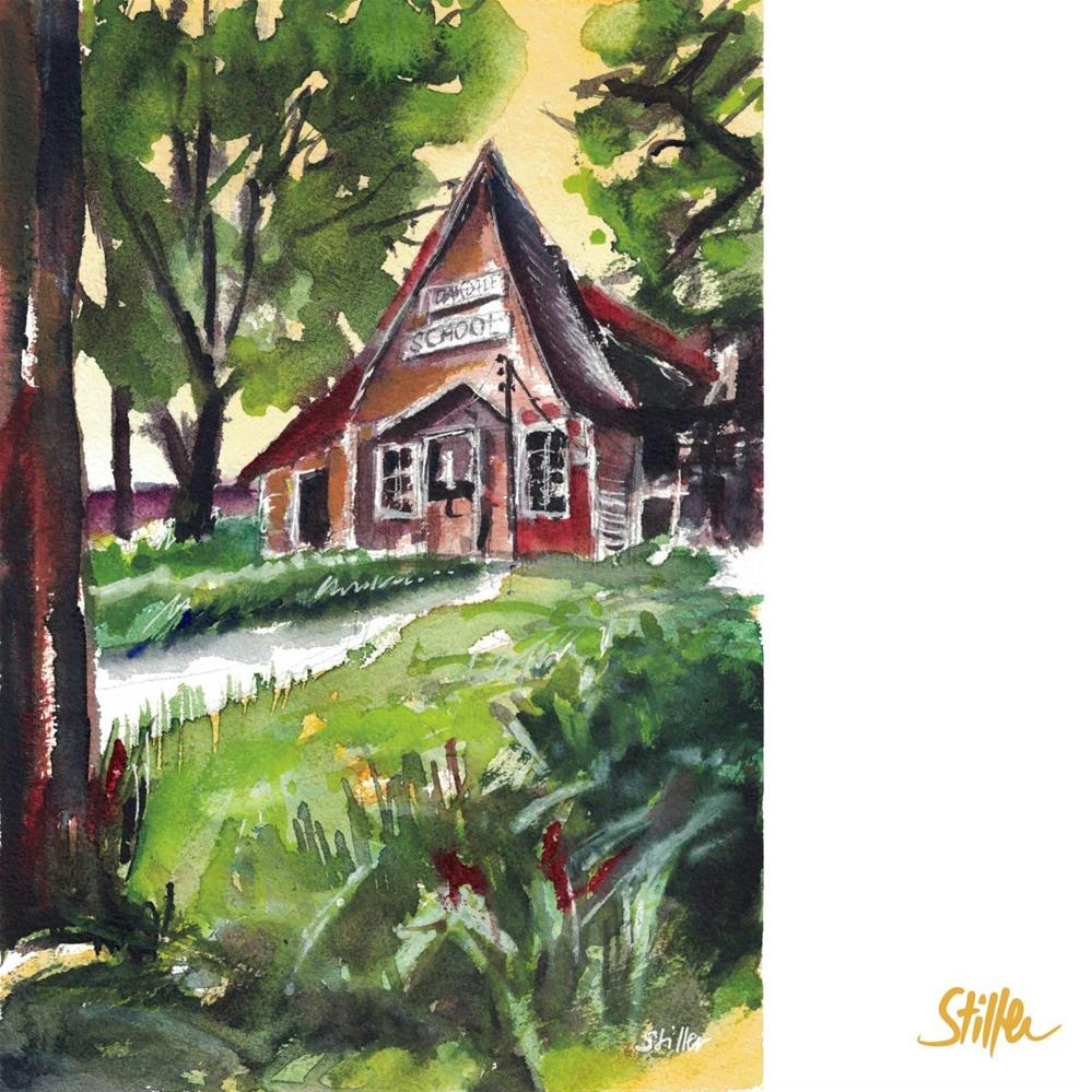 """3240 School House"" original fine art by Dietmar Stiller"